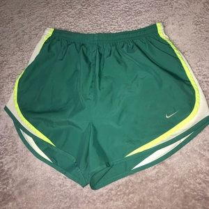 Green Nike Athletic Shorts